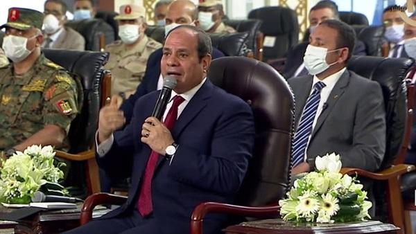 صورة 29 رسالة من السيسي للمصريين.. لو مش عايزيني أبقى موجود وهنزل الجيش القرى