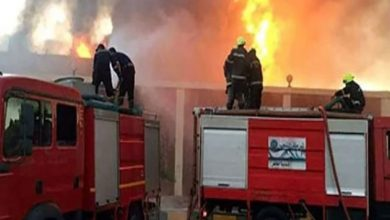 صورة حريق هائل بمصنع زجاج بالشرقية و9 سيارات إطفاء تتدخل