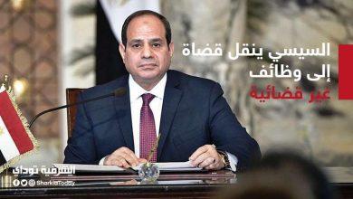 صورة عبدالفتاح السيسي ينقل عدد من القضاة إلى وظائف غير قضائية