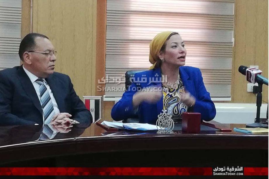 وزيرة البيئة في زيارة تفقدية لمحافظة الشرقية 1