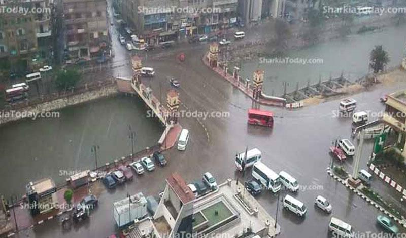 خريطة سقوط الأمطار على مصر