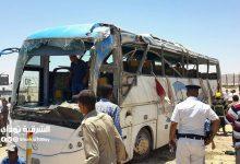 صورة مصرع وإصابة 4 أطفال إثر حادث تصادم أتوبيس مدرسة بطريق السويس