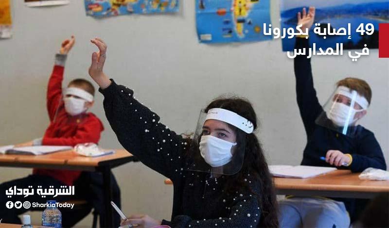 ظهور 49 إصابة كورونا في المدارس