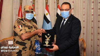 صورة رسالة شكر من محافظ الشرقية إلى قوات الصاعقة بمناسبة ذكرى أكتوبر المجيدة