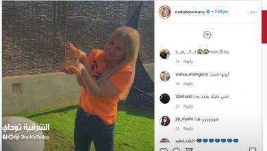 صورة بالفيديو الفنانة ندا بسيوني ترقص مع الثعابين وتعبر عن حبها الشديد لهم