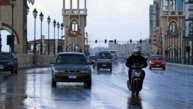 سقوط أمطار على 8 محافظات