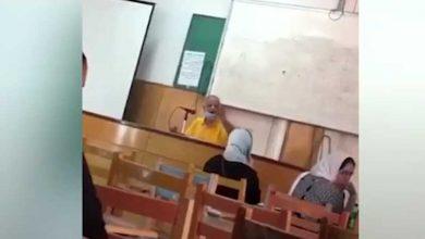 الفيديو المتسبب فى إيقاف أستاذ جامعي