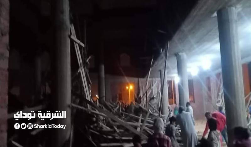 انهيار سقف مسجد تحت الإنشاء على العمال في العاشر من رمضان