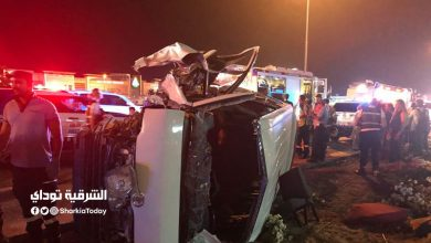 12 شخصًا في حادث تصادم سيارتين في صحراوي المنيا