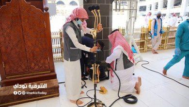 تجهيز منبر خطيب الجمعة في المسجد الحرام