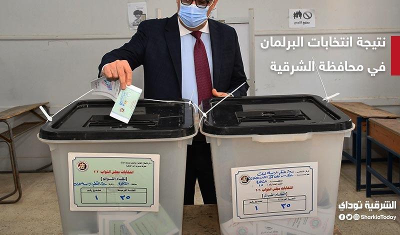 نتيجة انتخابات البرلمان في الشرقية
