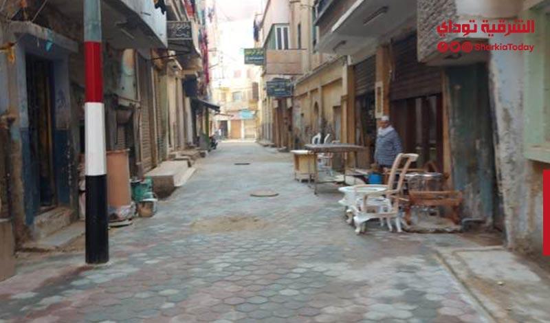 الشرقية يتابع رصف شوارع مدينة بلبيس بالإنترلوك2