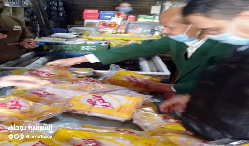 104 كيلو لحوم ودجاج مصنع منتهية الصلاحية بمحلات في الشرقية1