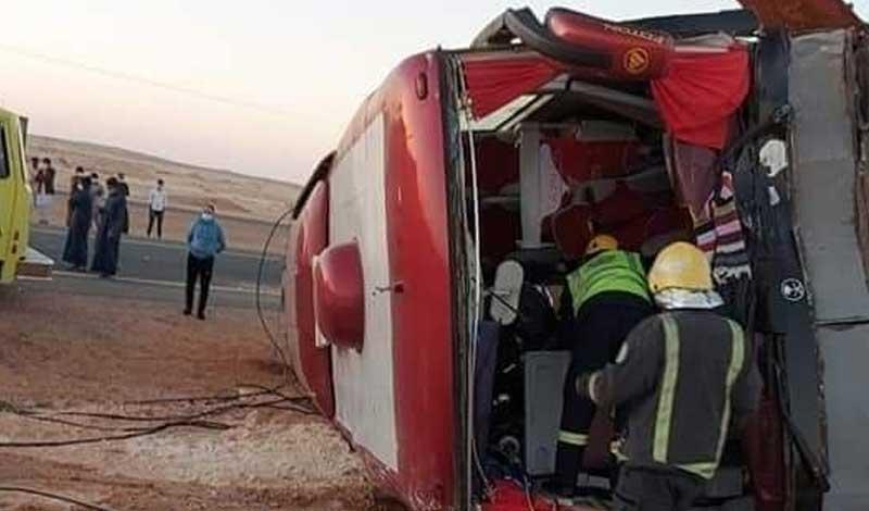 وفاة 3 من الشرقية في حادث بالسعودية