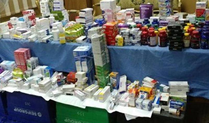 """وزارة الصحة تضبط مصنعًا ينتج أدوية من بودرة الرخام وتحذر المواطنين """"فيديو"""""""