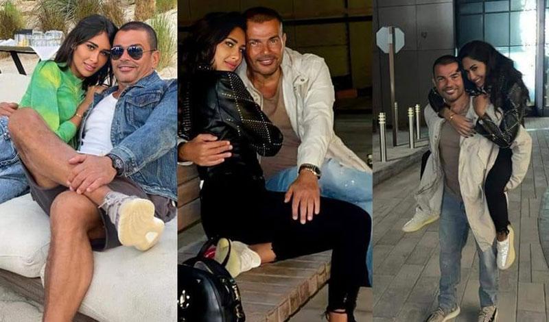 مفاجأة.. سر ظهور عمرو دياب مع صاحبة الصور المثيرة للجدل