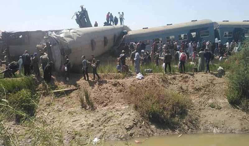 ضحايا حادث قطاري سوهاج