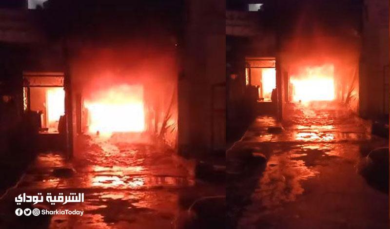 حريق هائل في مغسلة سيارات بالشرقية1
