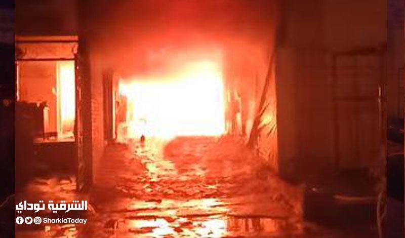 حريق هائل في مغسلة سيارات بالشرقية4