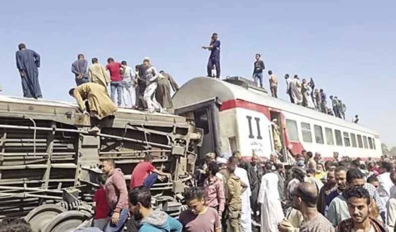تعويضات حادث قطاري سوهاج