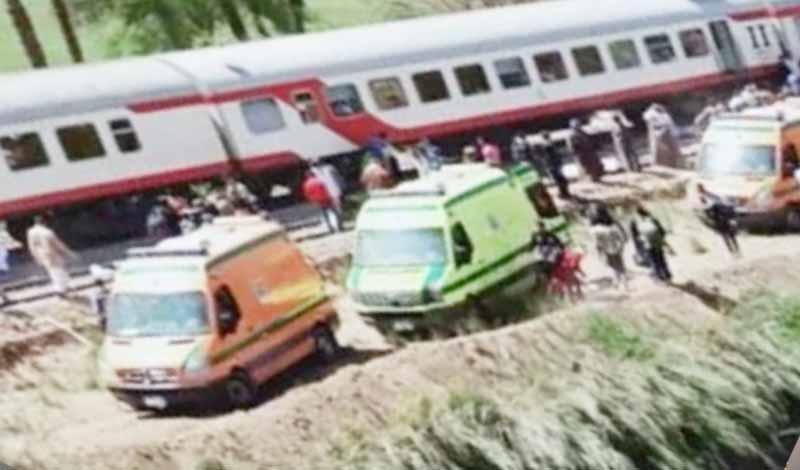سبب تصادم قطاري سوهاج