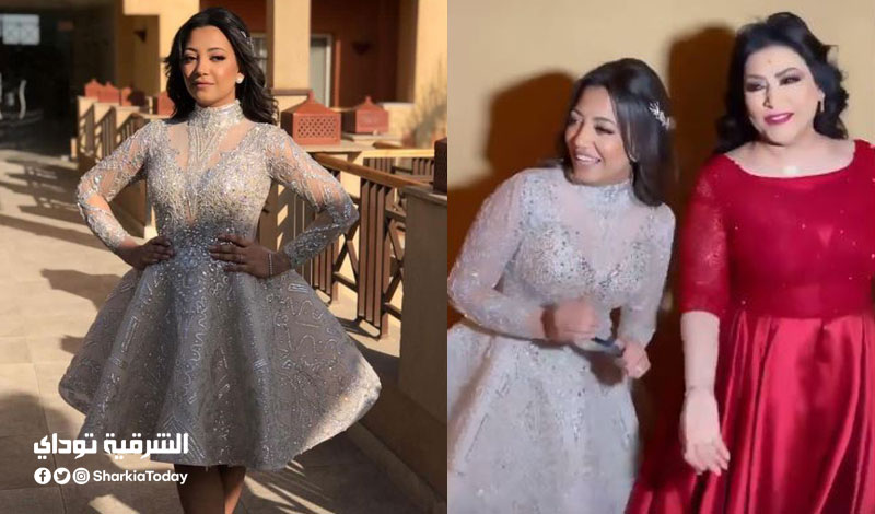 بدرية طلبة ترقص مع عمر كمال في حفل زفاف ابنتها سلمى