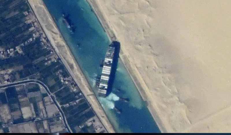 تعويضات مصر من السفينة الجانحة