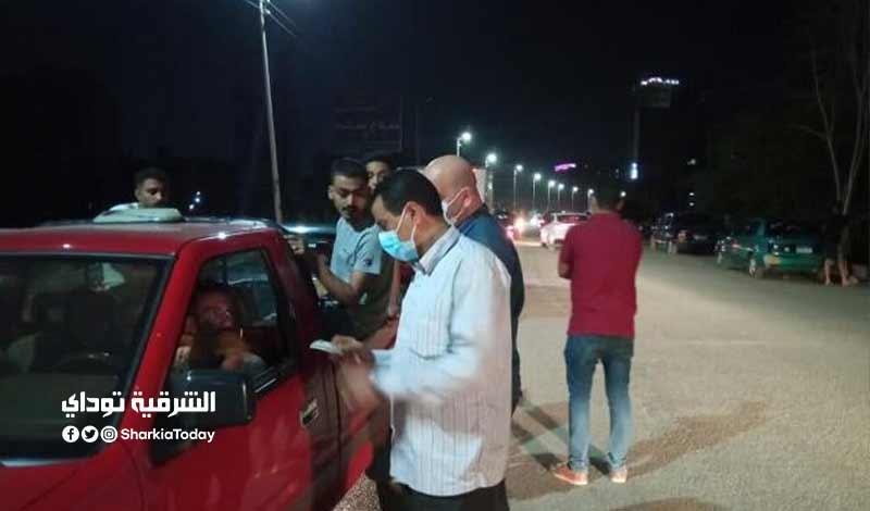 30 مواطن لعدم ارتداء الكمامة ومصادرة 10 شيش لمخالفة الإجراءات الاحترازية بالزقازيق ومنيا القمح 2