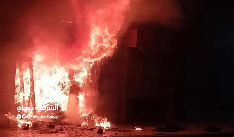 حريق هائل في منطقة صيدناوي بالعاشر من رمضان