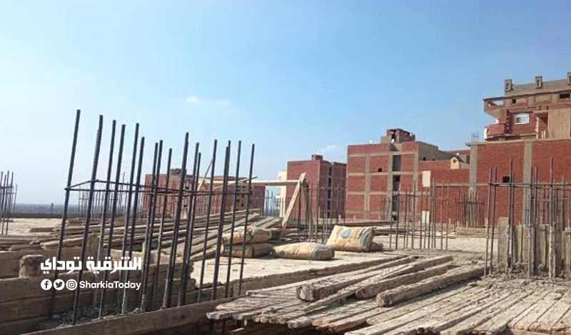 أعمال بناء مخالف في الغشام بالزقازيق والتحفظ على المعدات صور 2