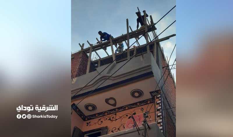 أعمال بناء مخالف في الغشام بالزقازيق والتحفظ على المعدات صور 3