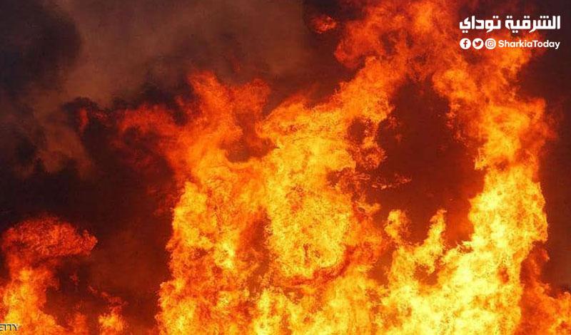 حريق هائل يلتهم عفش عروسة