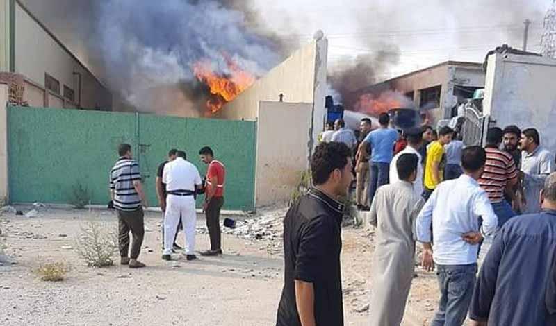 حريق يلتهم مصنع بالعاشر من رمضان