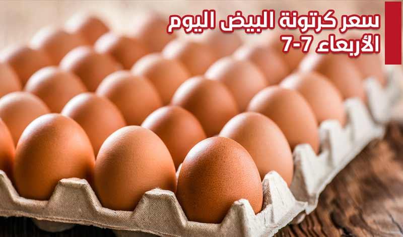 كرتونة البيض اليوم