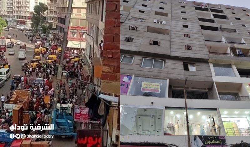 """كان عامل """"لايف"""" من شقته.. مصرع """"عريس"""" وإصابة شخص آخر سقطت عليهم رافعة أثاث من الطابق الخامس بالإسكندرية"""