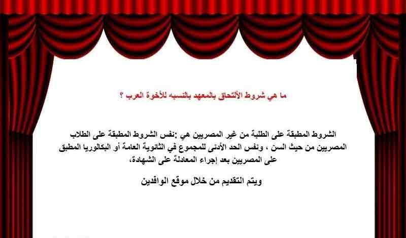 المعهد العالي للفنون المسرحية 2021
