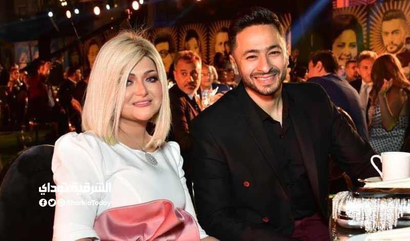 الأول لزوجة الفنان حمادة هلال بعد خلع الحجاب في مهرجان الفضائيات فيديو 3