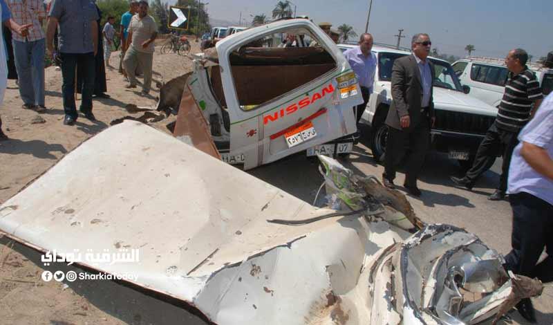 حادث تصادم في العاشر من رمضان
